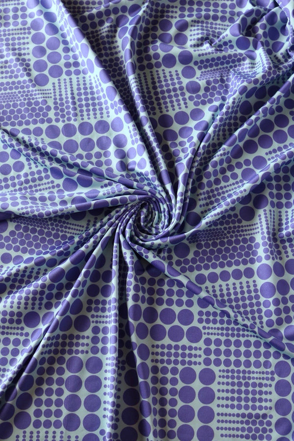 Periwinkle Dots Poly Spandex