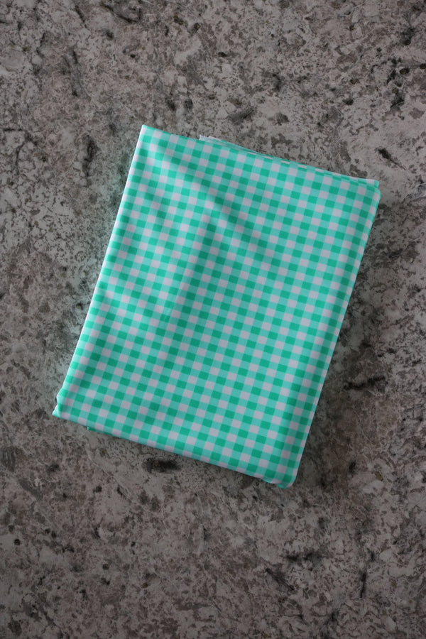 Mini Mint Gingham Nylon Spandex