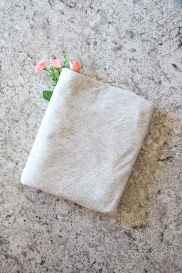 Light Heather Gray Viscose Crepe Jersey Knit