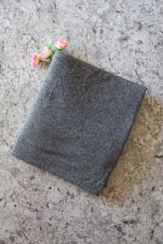 Black Chambray Viscose Crepe Jersey Knit