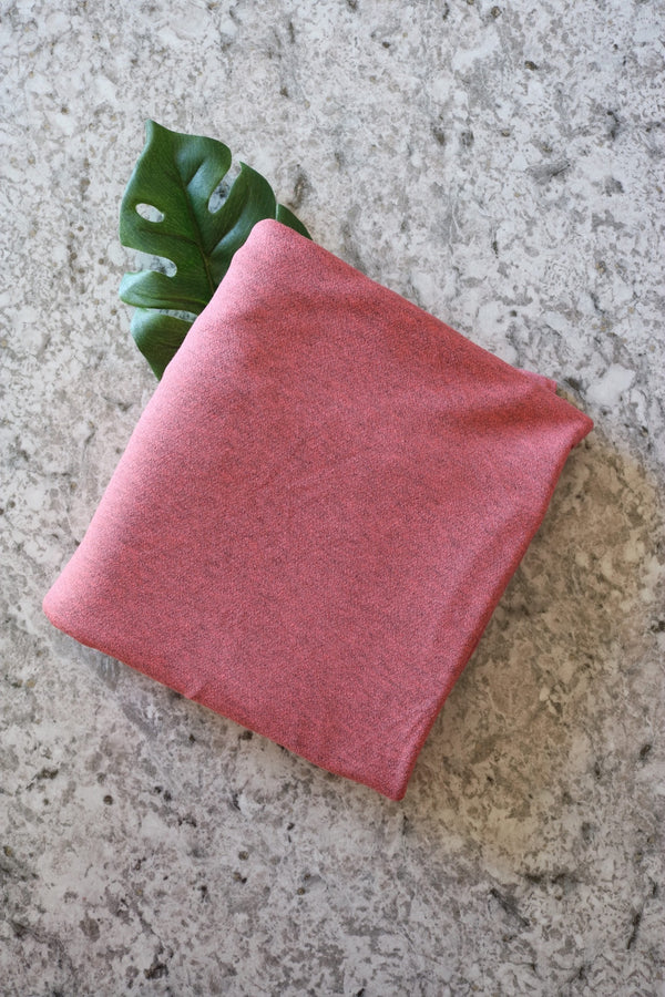 Watermelon Chambray Viscose Crepe Jersey Knit