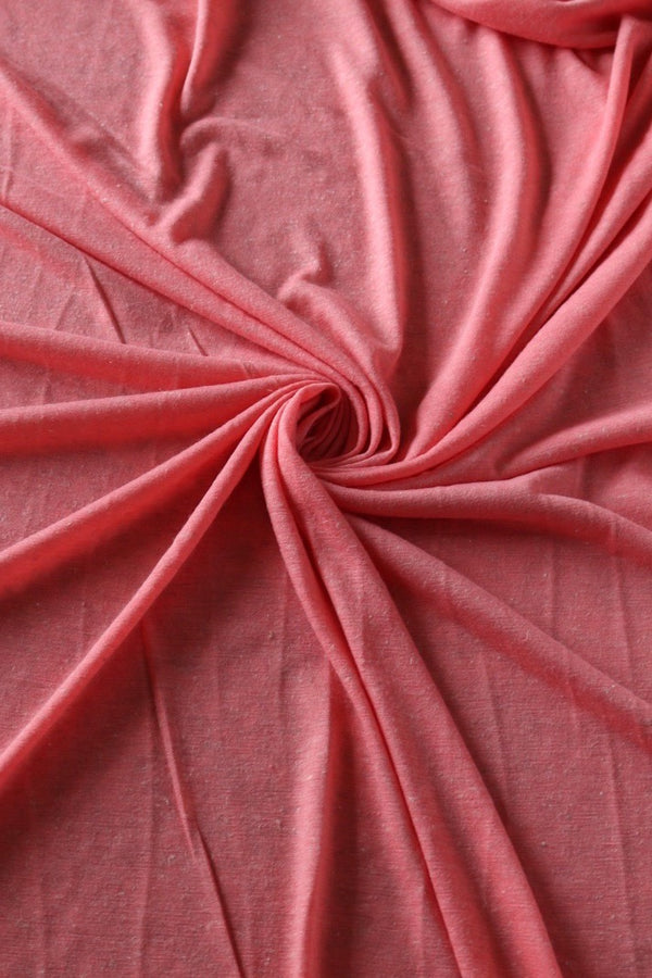 Coral Poly Linen Jersey