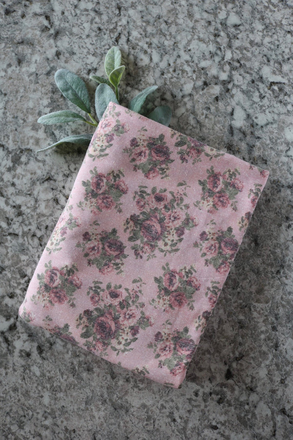 Jane Floral on Pink Tri-Blend Jersey