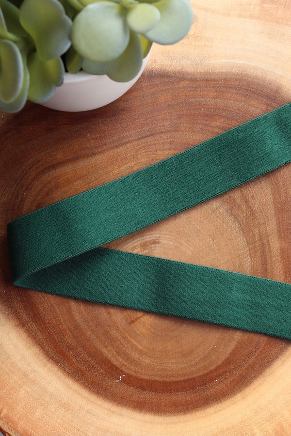 "Dark Green 1.25"" Soft Brief Elastic"