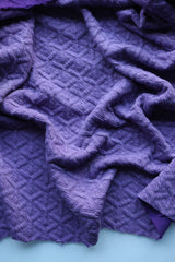 Clematis Interwoven Squares Quilted Knit