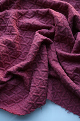Wild Currant Interwoven Squares Quilted Knit