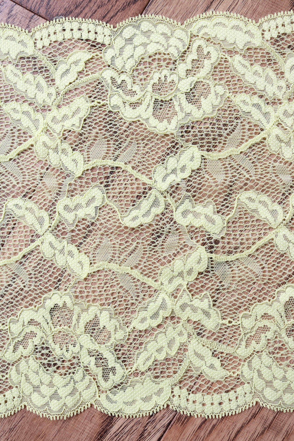 "Limón 9"" Wide Stretch Lace"