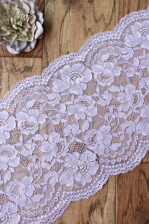 "Wisteria 9"" Wide Stretch Lace"
