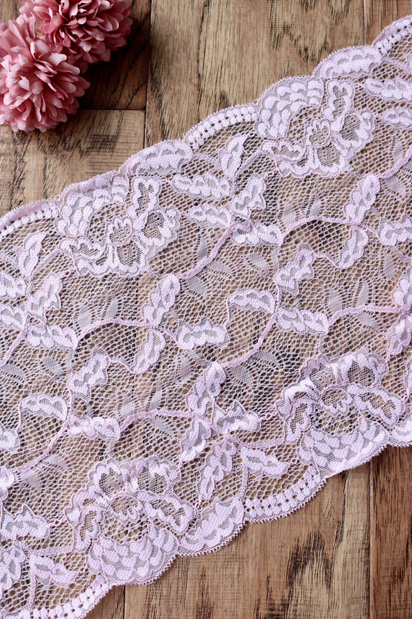 "Blush Pink 9"" Wide Stretch Lace"