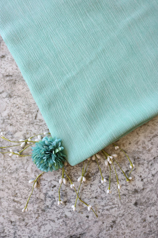 Mint Washed Rayon Gauze