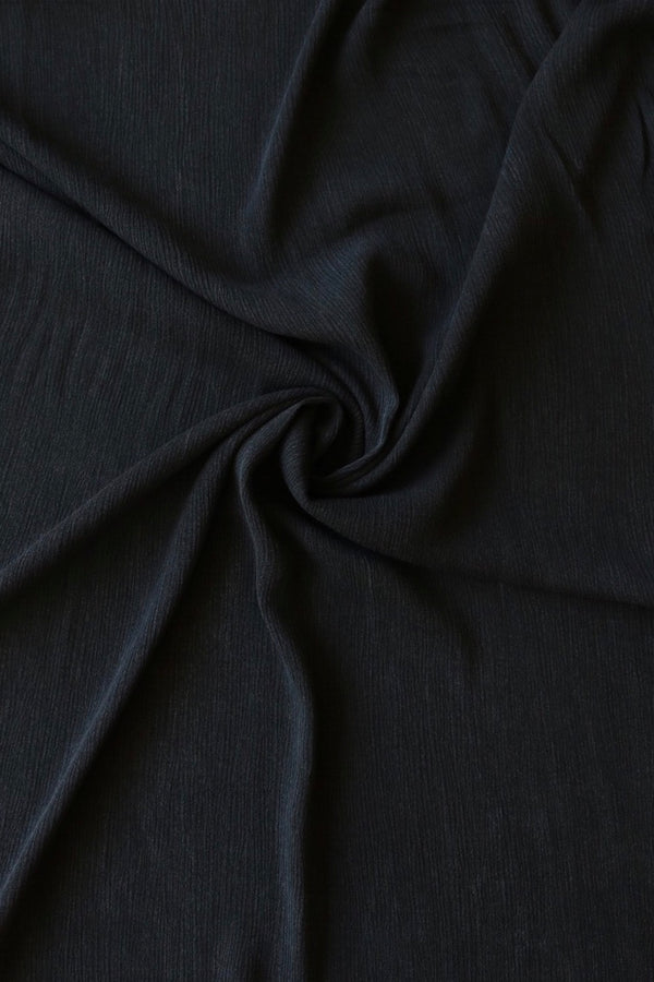 Black Washed Rayon Gauze
