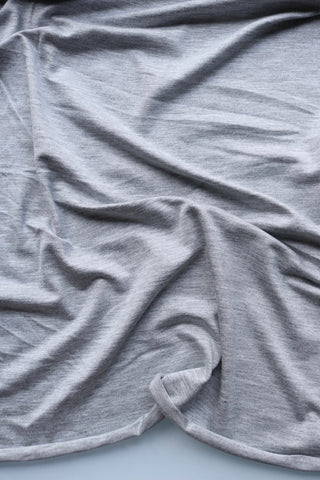Heather Gray Rayon Spandex Jersey