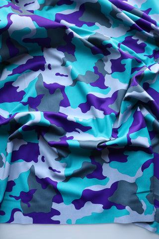 Turquoise/Purple/Grays Camo QUAD Performance Jersey Knit