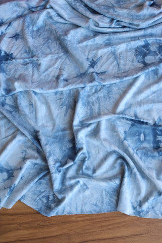 Chambray Tie Dye Baby French Terry