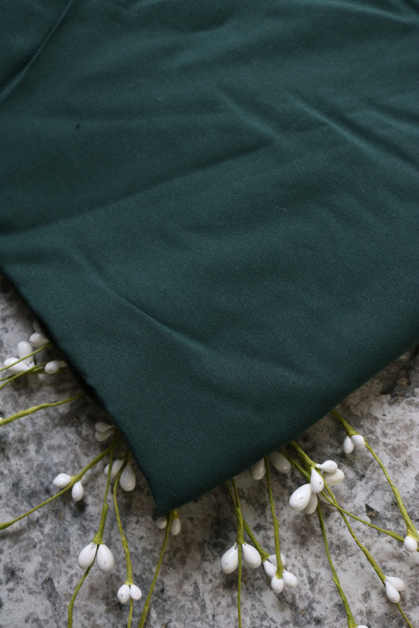 Hunter Green Rayon Challis