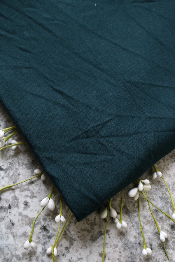 Hunter Green Rayon Spandex Brushed French Terry