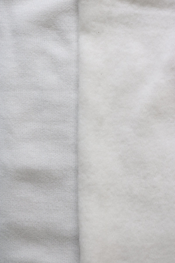Ivory Rayon Spandex Brushed French Terry