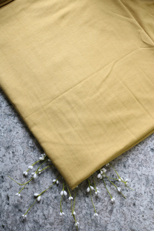 Mustard Rayon Spandex Brushed French Terry