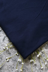 Navy Rayon Spandex Brushed French Terry