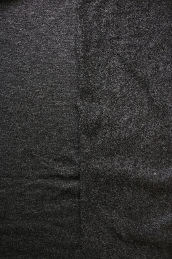 2 Tone Charcoal Rayon Spandex Brushed French Terry