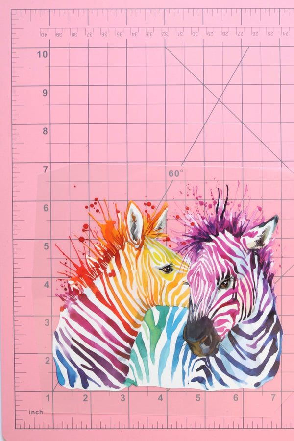 Zebra Love Heat Transfer, Iron-On