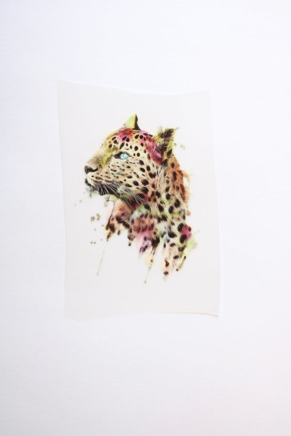 Small Leopard Heat Transfer, Iron-On