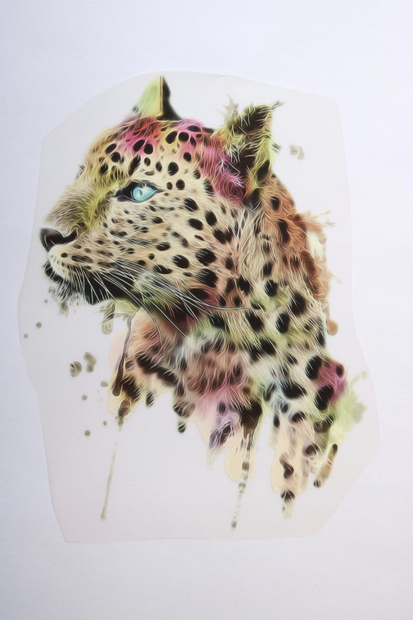 Large Leopard Heat Transfer, Iron-On