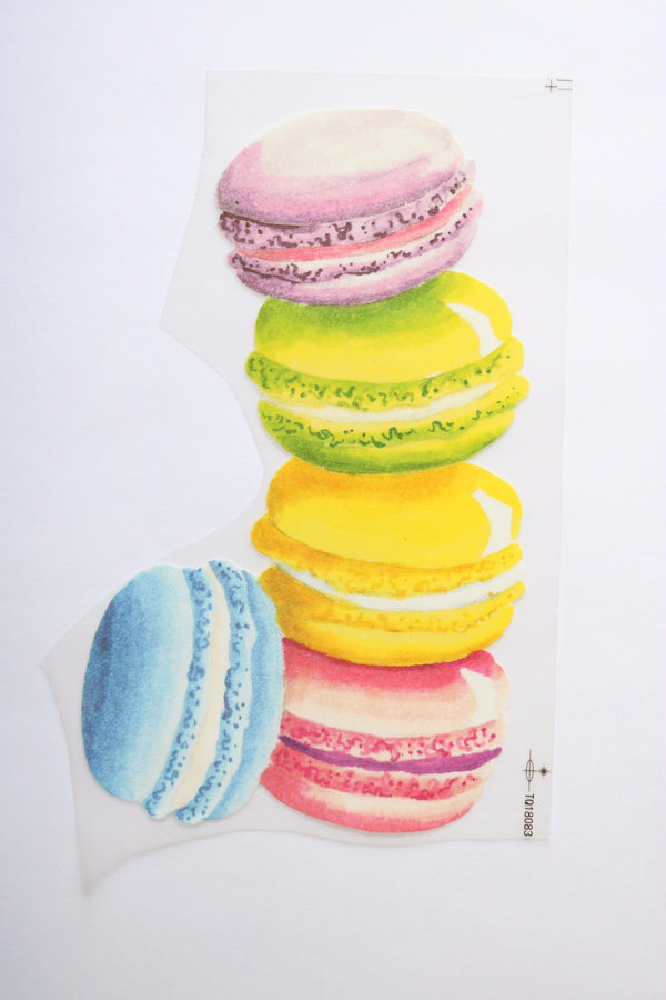 Tipping Macaroons Heat Transfer, Iron-On