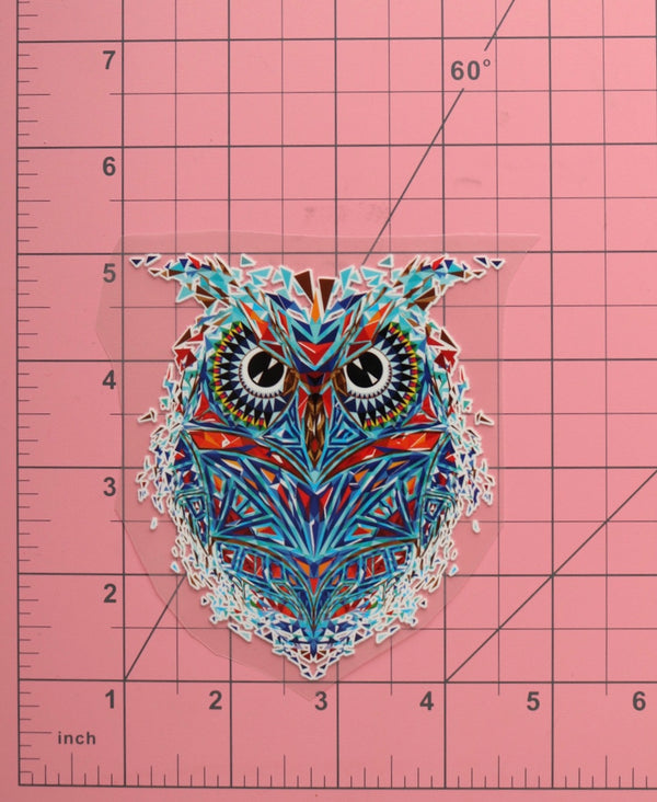 Small Pixel Owl Heat Transfer, Iron-On