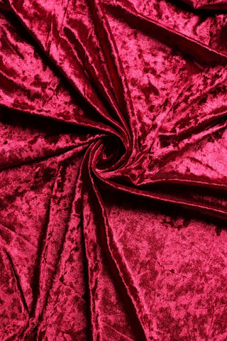 Burgundy Crushed Stretch Velvet