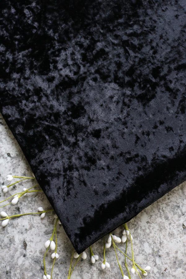 Black Crushed Stretch Velvet