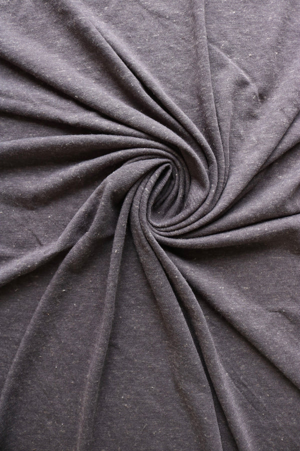 Light Charcoal Poly Linen Jersey