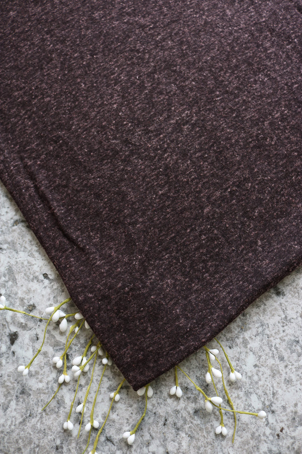 Brown Poly Linen Jersey
