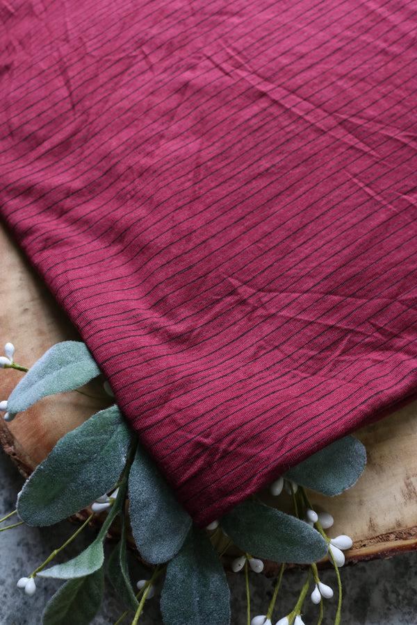 Burgundy Sedona Mini Stripe Jersey