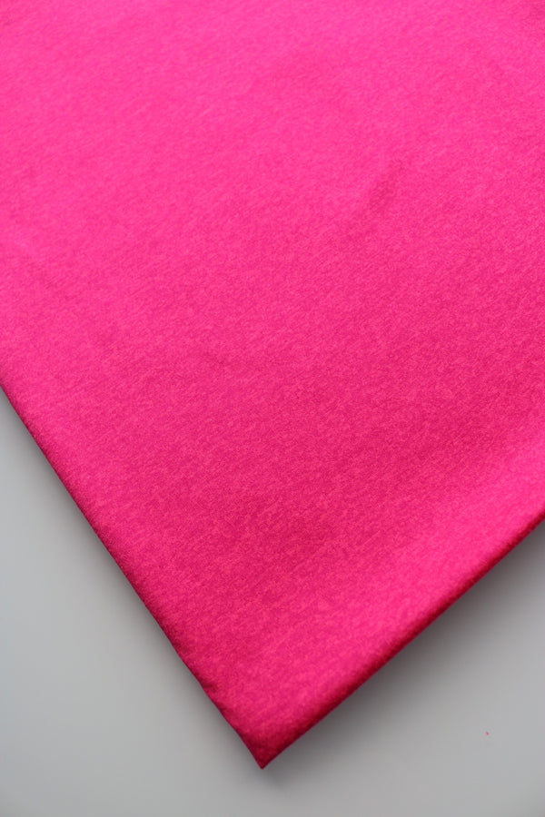 Neon Pink Athletic Brushed Poly Jersey 125GSM