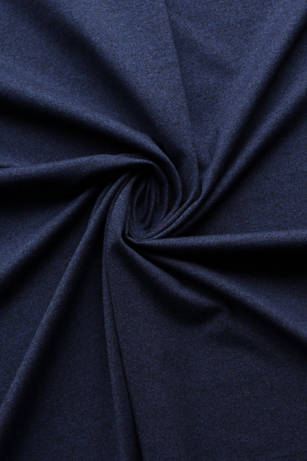 Dark Navy Athletic Brushed Poly 265GSM