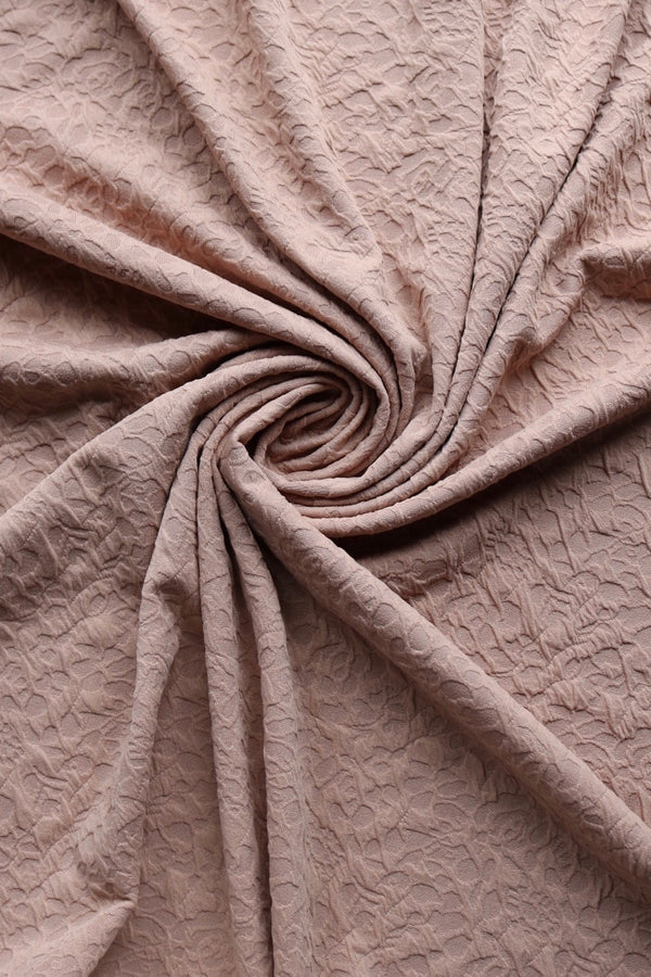 Rustic Taupe Abstract Floral Jacquard Knit