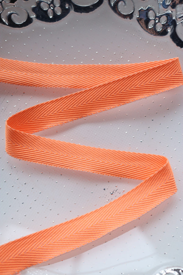 "Orange 13/16"" Twill Tape"