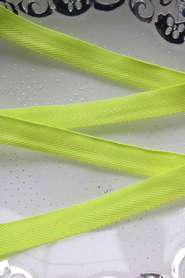 "Neon Yellow 13/16"" Twill Tape"
