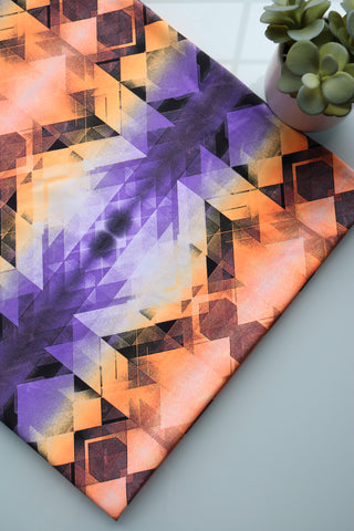 Orange & Purple Quarashi Premium Athletic Nylon/Spandex