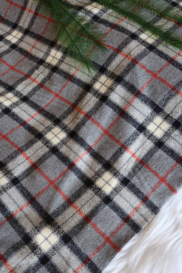 Gray/Red/Black Plaid Robert Kaufman Mammoth Flannel