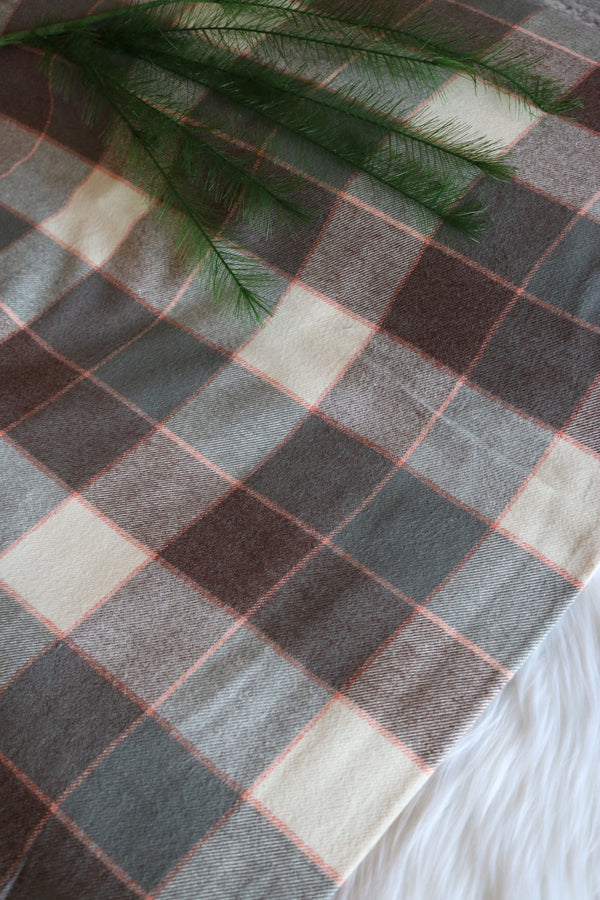 Pink/Grey/White Plaid Robert Kaufman Tahoe Flannel