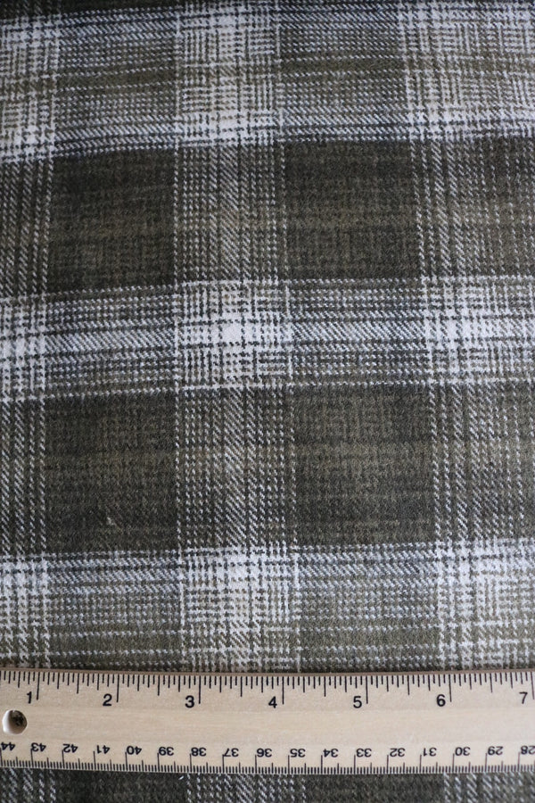 Olive/White Plaid Robert Kaufman Tahoe Flannel
