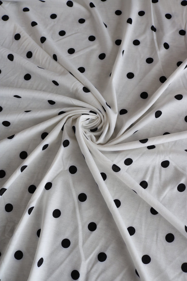 Ivory Polka Dot French Terry