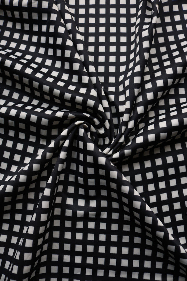 Black & Ivory Window Pane Scuba
