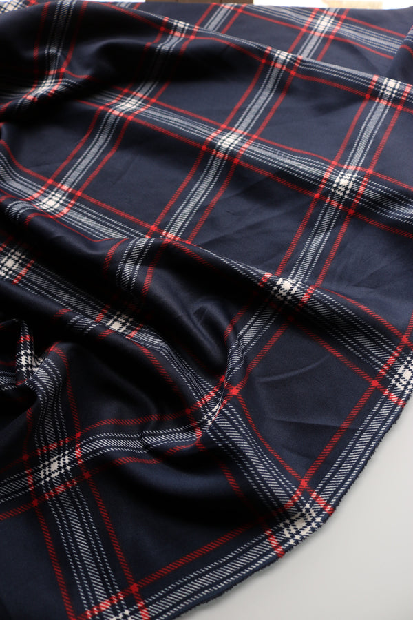Indigo Plaid Scuba