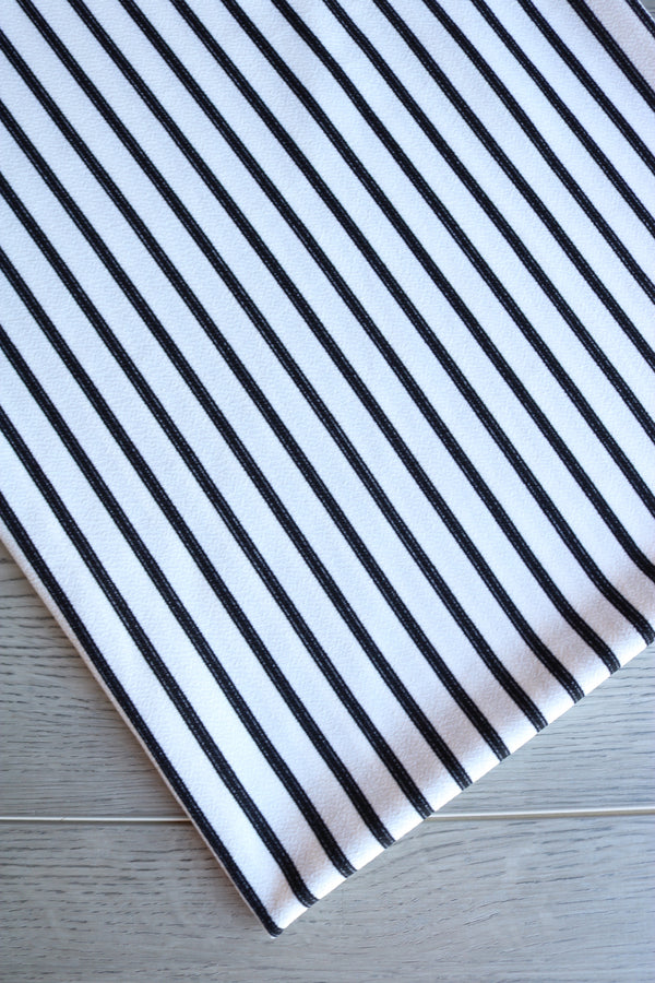 Black on Ivory Vertical Stripe Liverpool