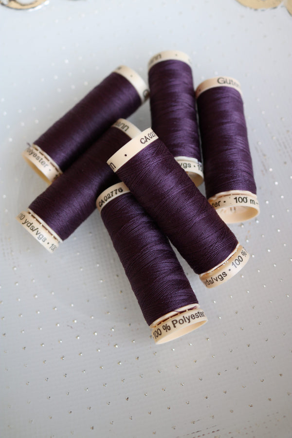 Plum Gutermann Sew All Polyester Thread- 100M