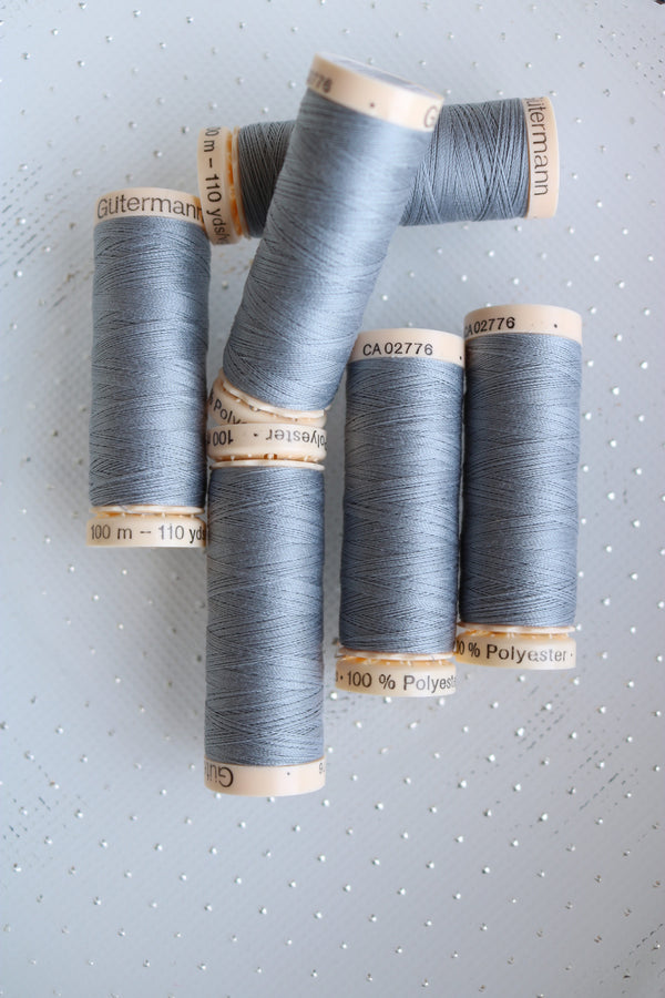 Slate Gutermann Sew All Polyester Thread- 100M