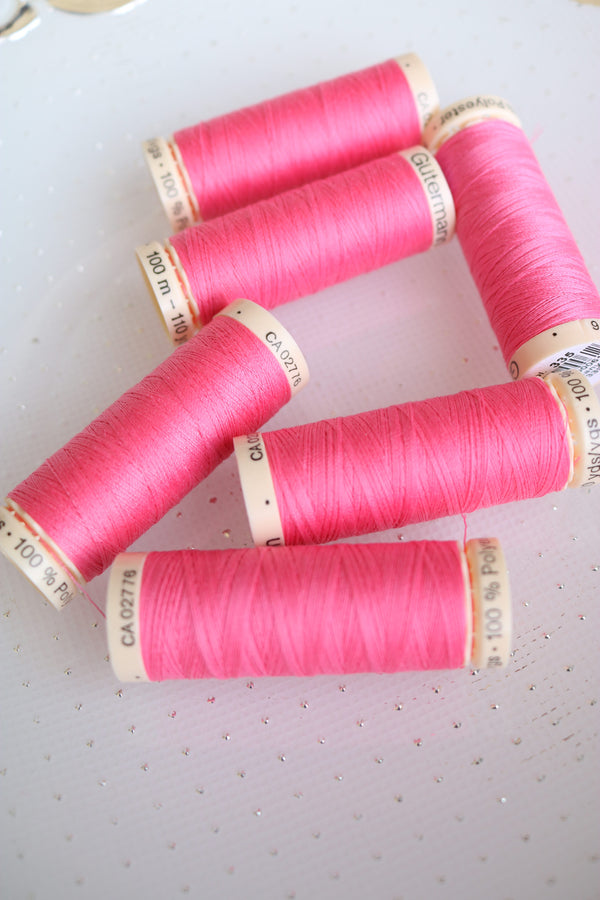 Strawberry Gutermann Sew All Polyester Thread- 100M